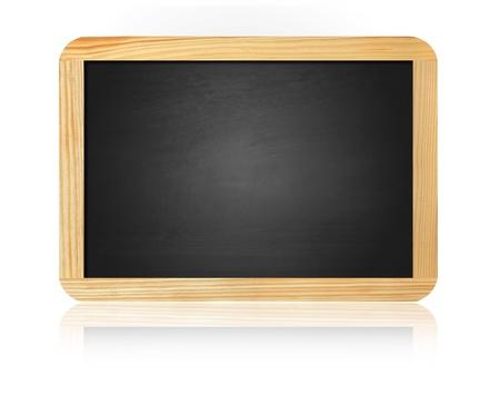 old blank blackboard isolated on white background Stok Fotoğraf