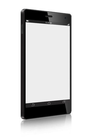 Touch Screen Smart Phone isolated on white background Stok Fotoğraf