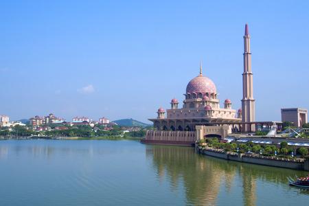 islamic scenery: Putra Mosque in Putrajaya, Malaysia