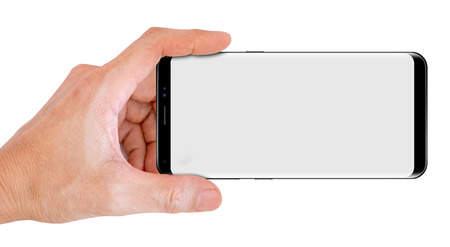Hand Hold Smartphone for snapping a picture Stok Fotoğraf