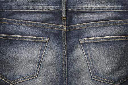 Denim Jeans texture background with back pocket