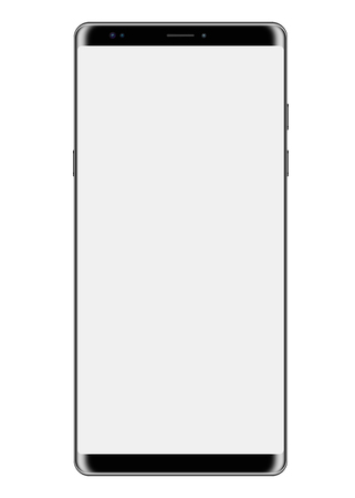 Big screen Smartphone with isolated on white background