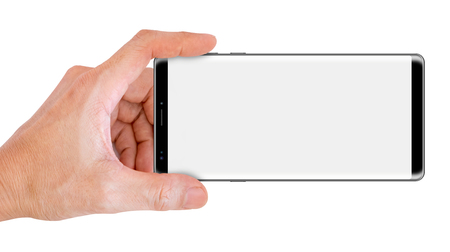 Hand Hold Big Screen Smartphone for snapping a picture Stok Fotoğraf
