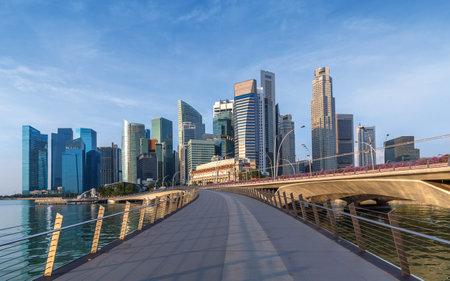 Skyline of Singapore business district, Singapore