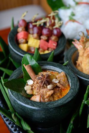 Masamun Chicken Curry, Thai most favorite dish Stock Photo