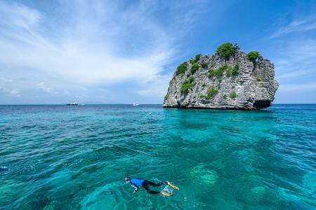 Beautiful seaview of Koh Rok, Krabi Thailand