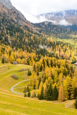 Beautiful landscape of Switzerland in Autumn