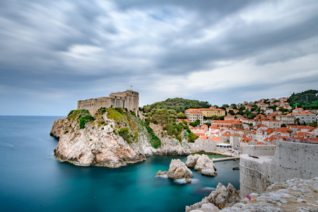 Beautiful view of famous Dubrovnik old Stockfoto