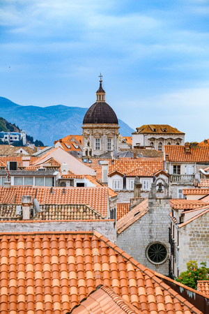 Beautiful view of famous Dubrovnik old Stok Fotoğraf