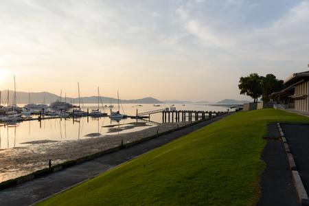 Yacht pier in Phuket Thailand 免版税图像