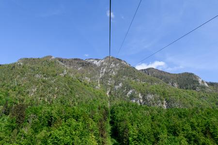 Cable car to Velika planina, a plateau near Kamnik, Slovenia