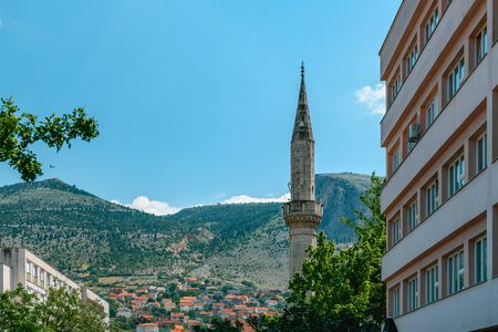View of historic Mostar city in Bosnia and Herzegovina.