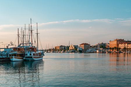 Beautiful sunset time in Zadar, Croatia Standard-Bild