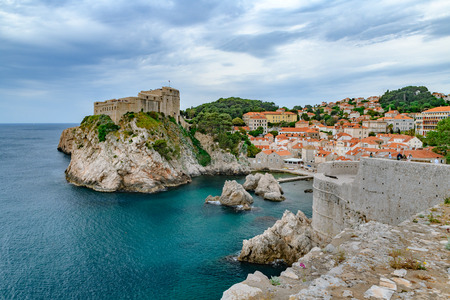 Beautiful view of famous Dubrovnik an old city of Croatia