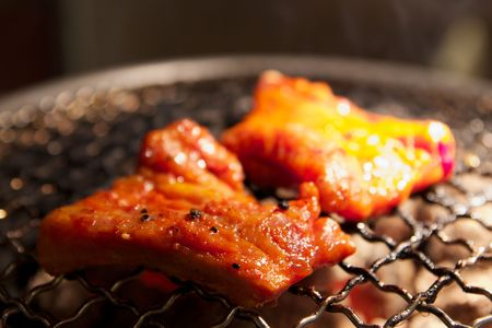 Grilled meat: Selective Focus