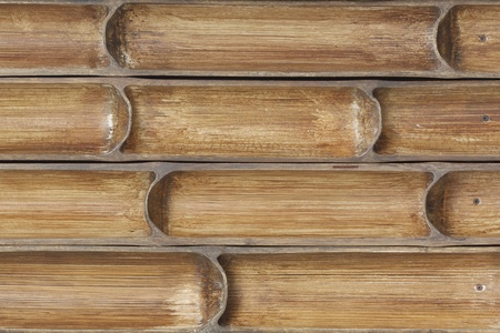 partition: bamboo partition wall Stock Photo