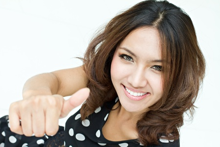 thumb up good approval Stock Photo