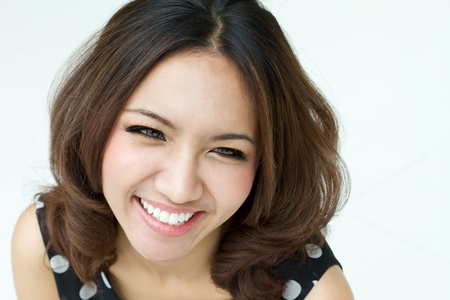 sexy asian woman: happy smiling women portrait Stock Photo