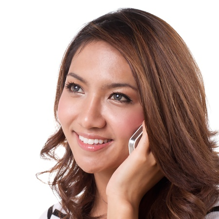 Beautiful women communicate with her cellphone Stock Photo - 13994782