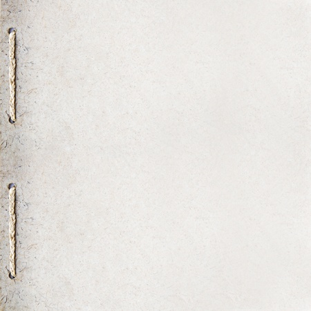 gefesselt: grunge recycle Papier Hintergrund Design mit Seil-Bindung