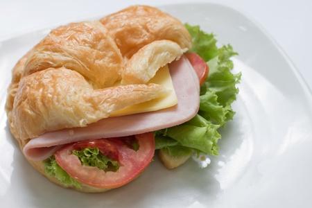 ham and cheese: croissant ham cheese sandwich