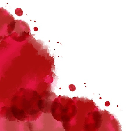 water color drop illustration for border, template, background in red Stock Illustration - 17305306