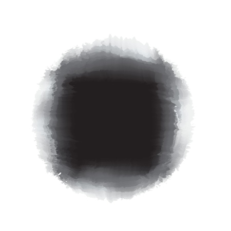 Black watercolor paint in round shape  for background accent or design element Stock Photo - 17305301