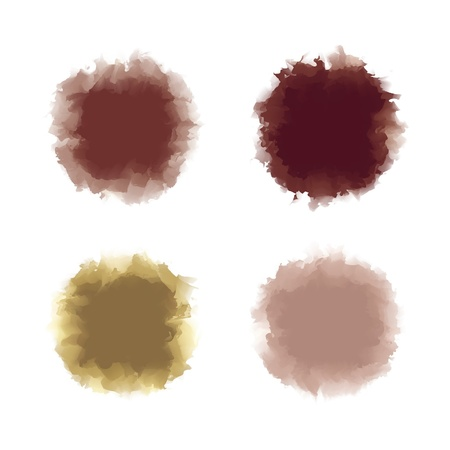 Set of brown tone water color drop for brush, textbox, background, design element Stock Vector - 17993148