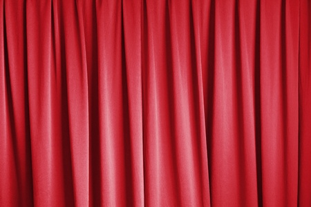 curtain of cinema stage background, red dramatic tone photo