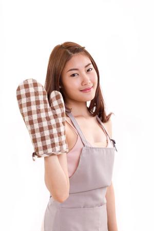 mitten: woman with mitten glove