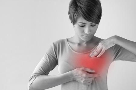유방암자가 검사, 건강 한 라이프 스타일 개념 스톡 콘텐츠