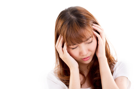 suffers: sick woman suffers from headache pain, migraine, insomnia, hangover