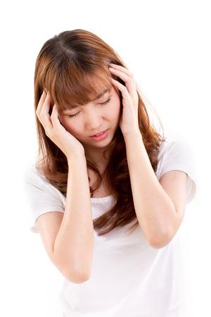 hangover: sick woman suffers from headache pain, migraine, insomnia, hangover