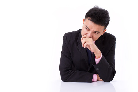 runny: sick businessman suffering runny nose