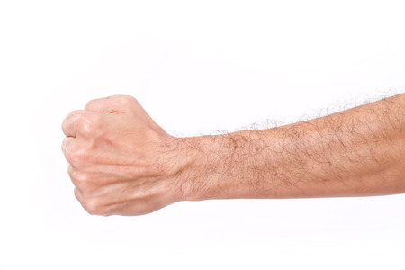 hairy arms: man