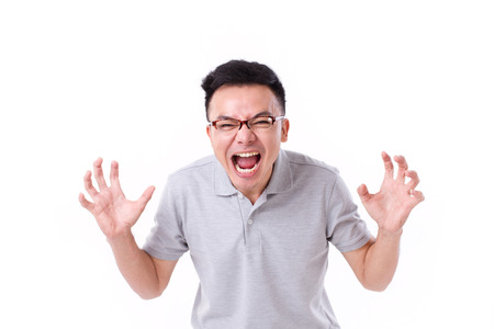 angry man screaming Stockfoto