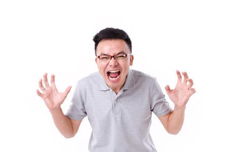 angry man screaming Archivio Fotografico