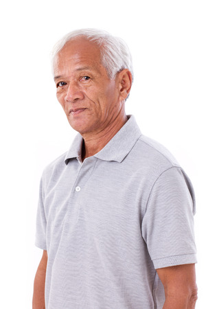 asian old man: portrait of asian senior old man Stock Photo