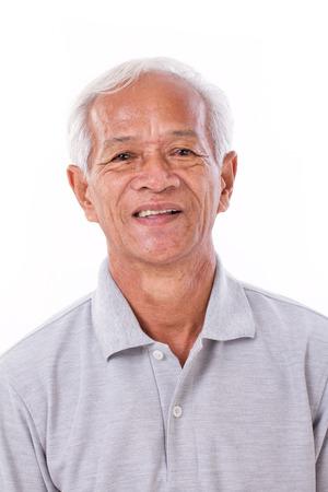 Portret van lachende senior man Stockfoto
