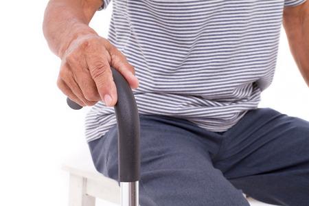 ancianos caminando: Mano mayor palo celebraci�n caminar