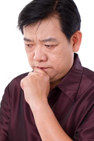 Hombre de pensamiento estresante Foto de archivo - 39061793