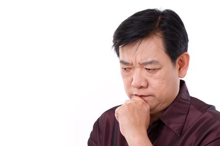 Hombre de pensamiento estresante Foto de archivo - 39061796