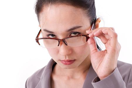 female boss: w�tend weiblichen Chef, der Sie betrachtet