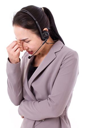 customer service: stressful customer service staff