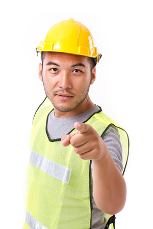 worker man: construction worker pointing at you