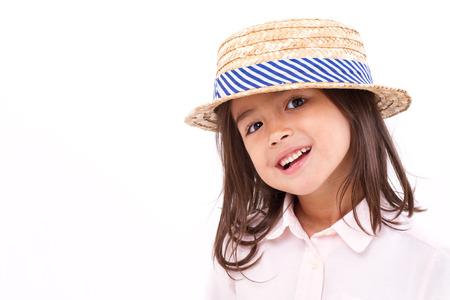 teethy: cute, happy, smiling female asian caucasian girl Stock Photo