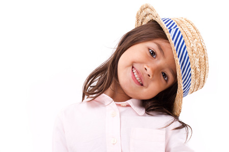 caucasian girl: Cute, happy, smiling female asian caucasian girl