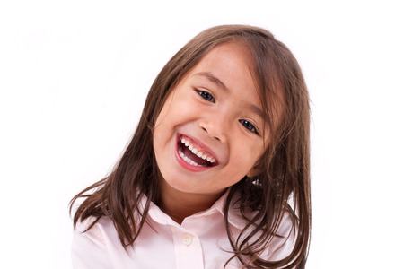sweet tooth: cute little girl laughing