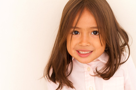 teethy: happy smiling cute little girl