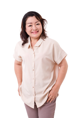 asian adult: happy middle aged asian woman